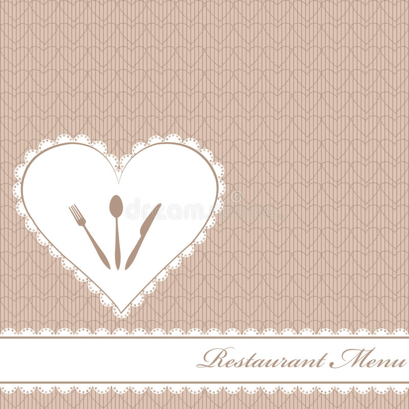 Download Restaurant Menu With Hearts Stock Illustration - Illustration of abstract, restaurant: 19430044