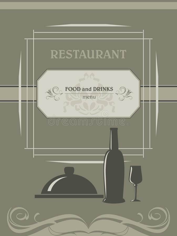 Restaurant menu. Label for design royalty free stock images
