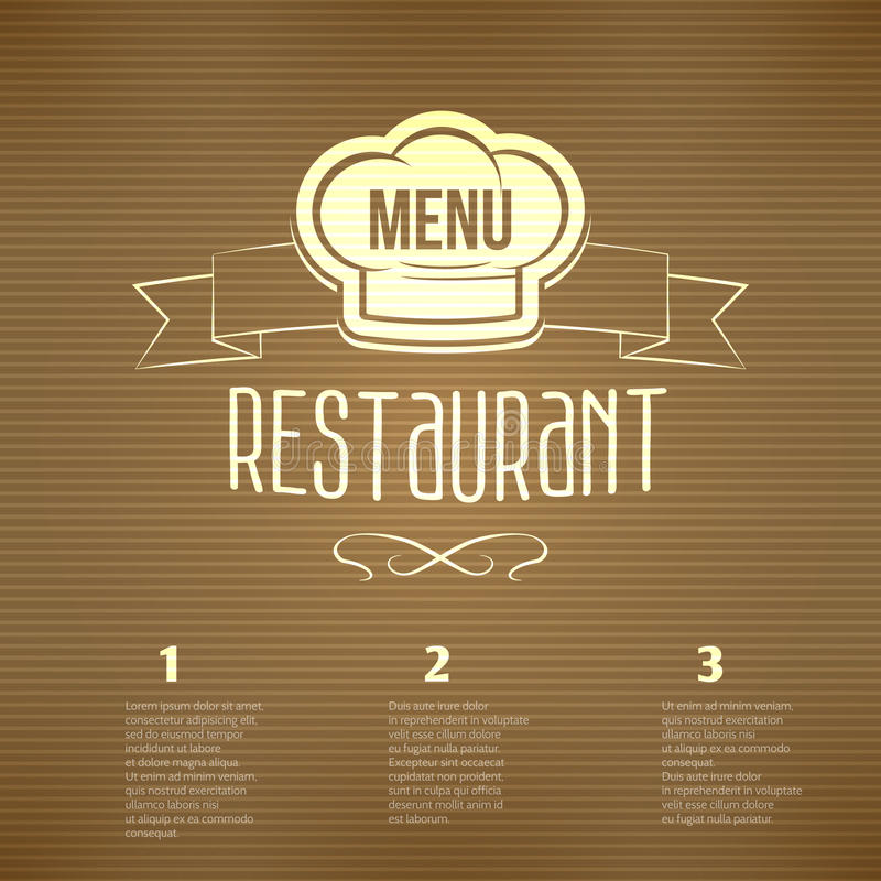 Restaurant menu template stock vector illustration of