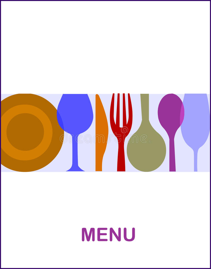 Restaurant menu with a white background -1 stock photography