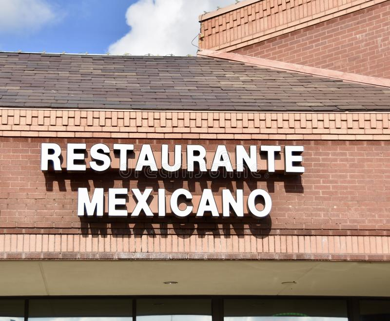 Restaurant mexicain et Catina photo stock