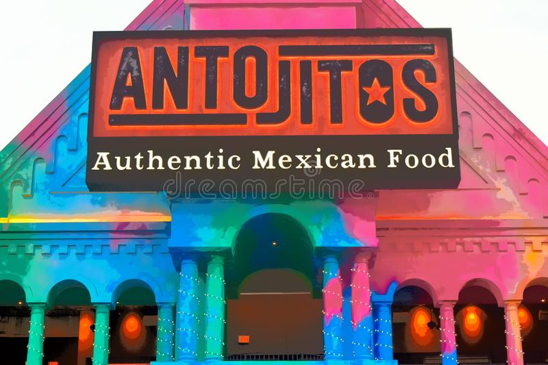 Restaurant mexicain traditionnel de style chez Citywalk Universal Studios photo libre de droits
