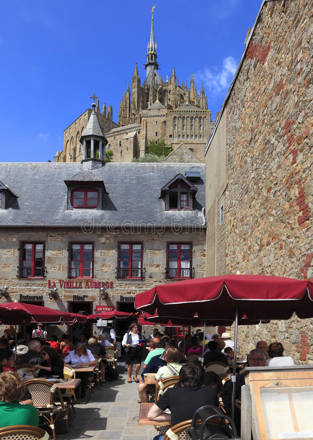 Restaurant at Mt.St.Michel royalty free stock photos