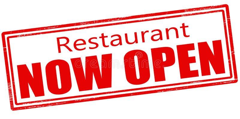Restaurant now open. Stamp with text restaurant now open inside, vector illustration vector illustration