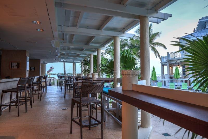 Restaurant Oceaanmening bij de Centric Key West Toevlucht van Hyatt en S royalty-vrije stock fotografie