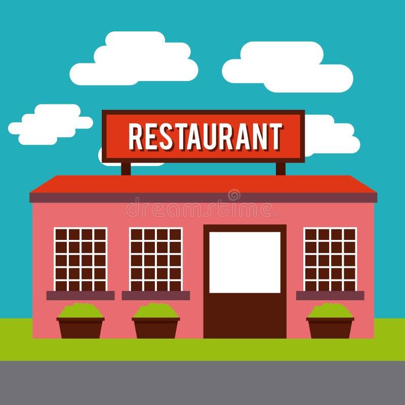 Restaurant outside design. Illustration eps10 graphic stock illustration
