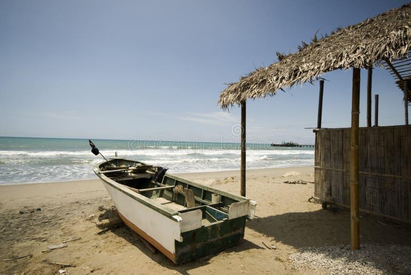 restaurant Pacifique Equateur de bateau photographie stock