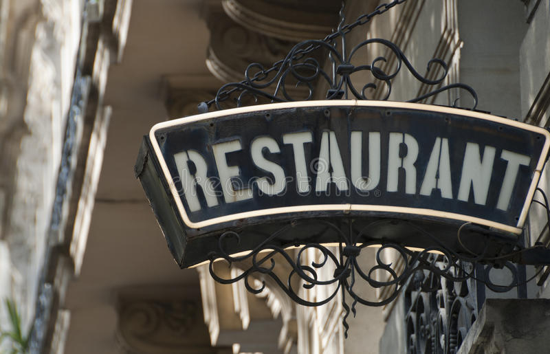 Restaurant in Paris, France stock photography