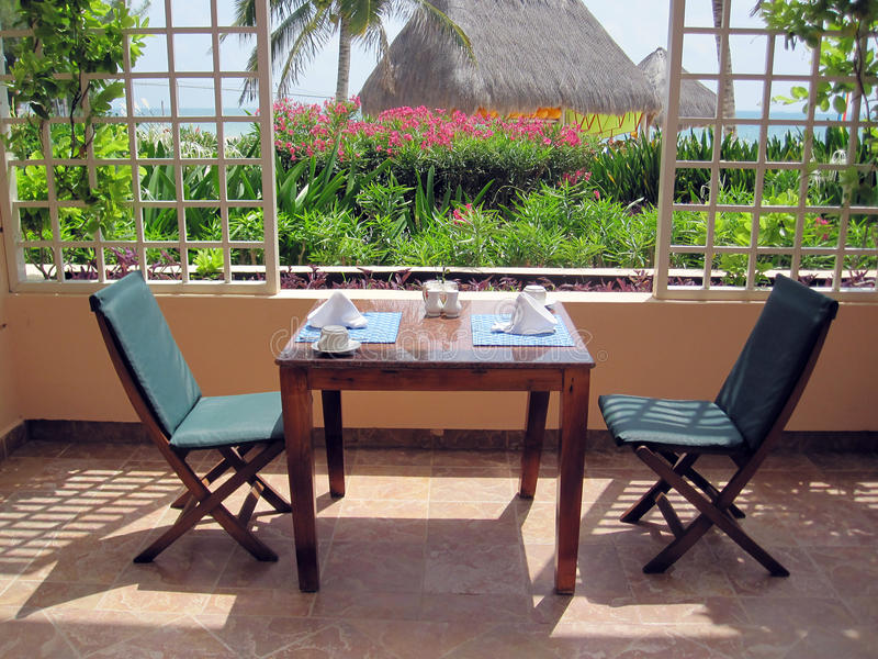 Download Restaurant Patio Dining Table Royalty Free Stock Photography - Image: 12774777
