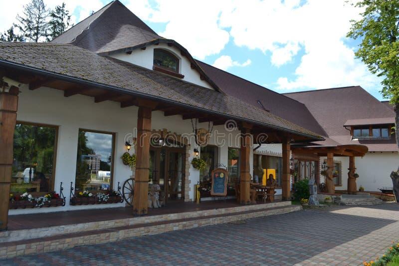 Restaurant Raganas Kekis, Lettland. lizenzfreie stockbilder