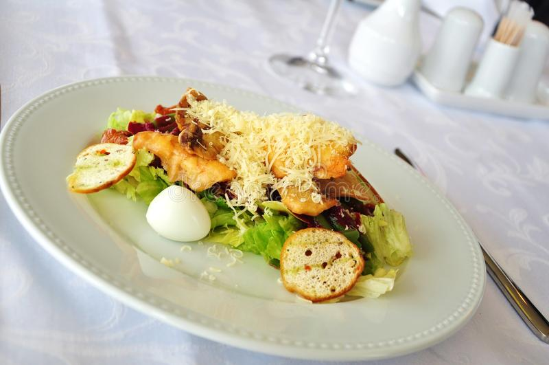 Restaurant salad royalty free stock photos