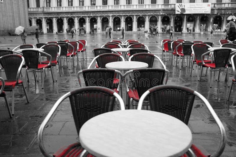 Restaurant San Marco Venice stock photo