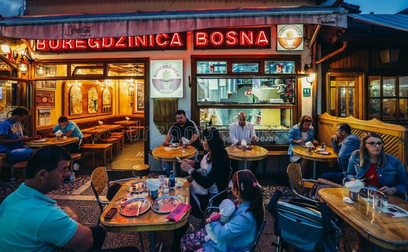 Restaurant in Sarajevo stock photo