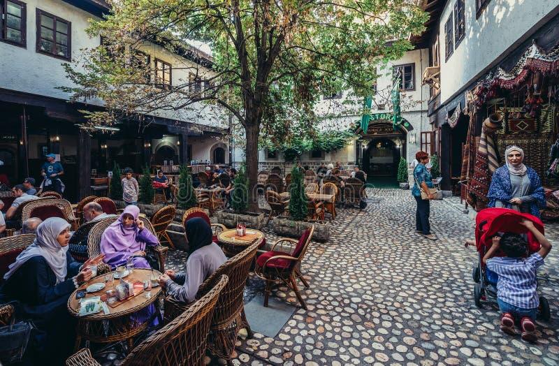 Restaurant in Sarajevo royalty free stock photo
