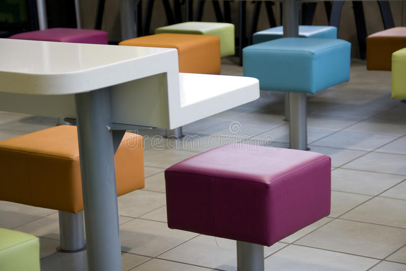 Restaurant seats stock photo