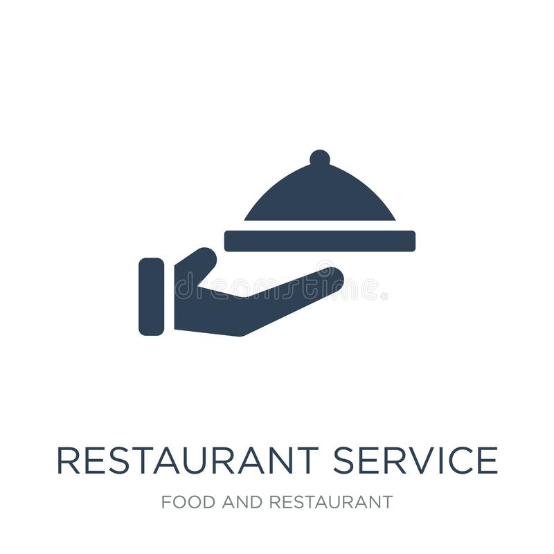restaurant service icon in trendy design style. restaurant service icon isolated on white background. restaurant service vector stock illustration