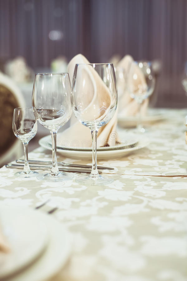 Restaurant serving. On the table close up royalty free stock photography