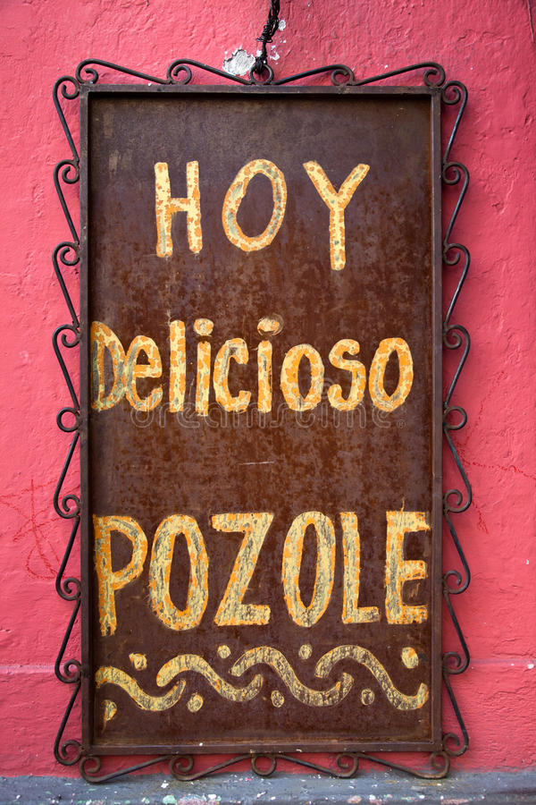 Download Restaurant sign stock photo. Image of homemade, pozole - 22197676