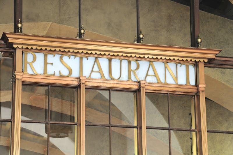 Download Restaurant sign stock image. Image of metal, stucco, landmark - 6750139