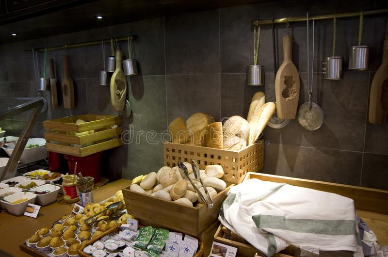 Asian restaurant interiors stock photography