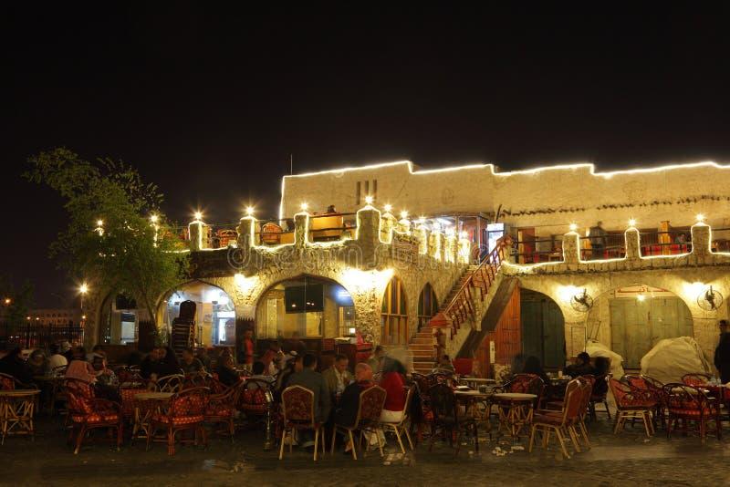 Restaurant In Souq Waqif, Doha Editorial Stock Photo