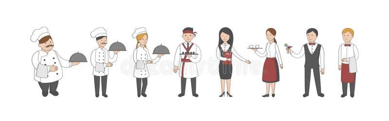 Restaurant staff set. royalty free illustration