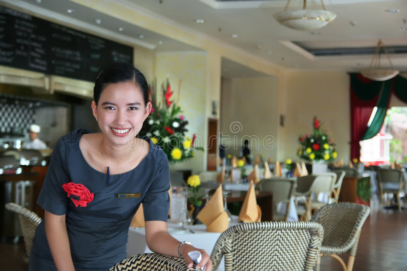 Download Restaurant staff at work stock image. Image of tourism - 4836701