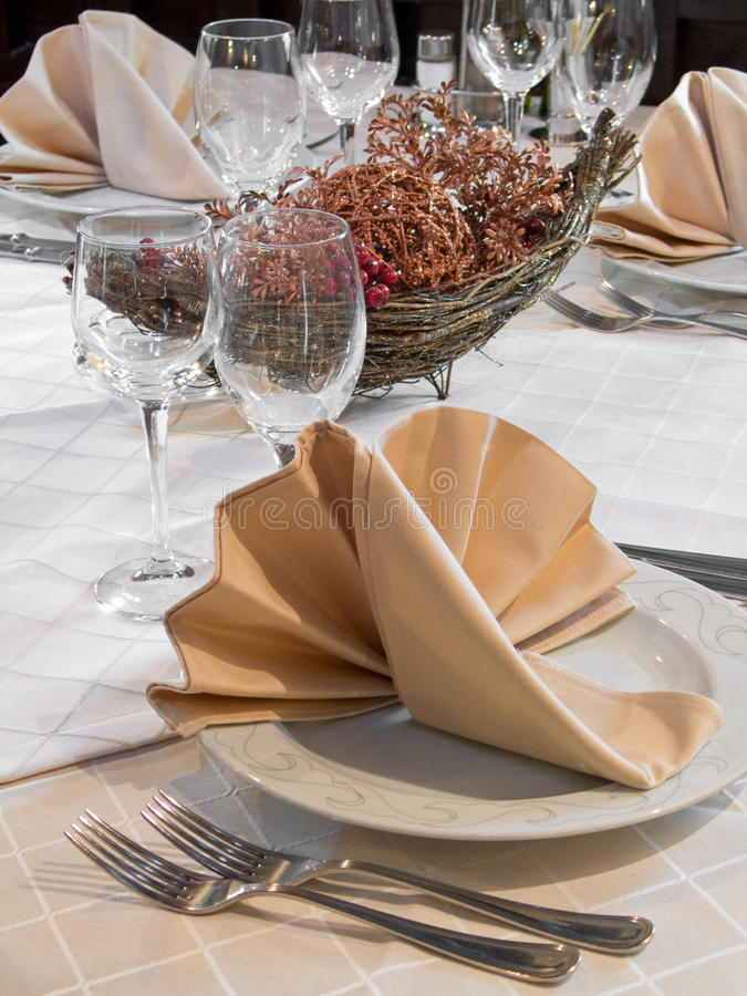 Download Restaurant table stock photo. Image of nice, plate, fork - 12239406