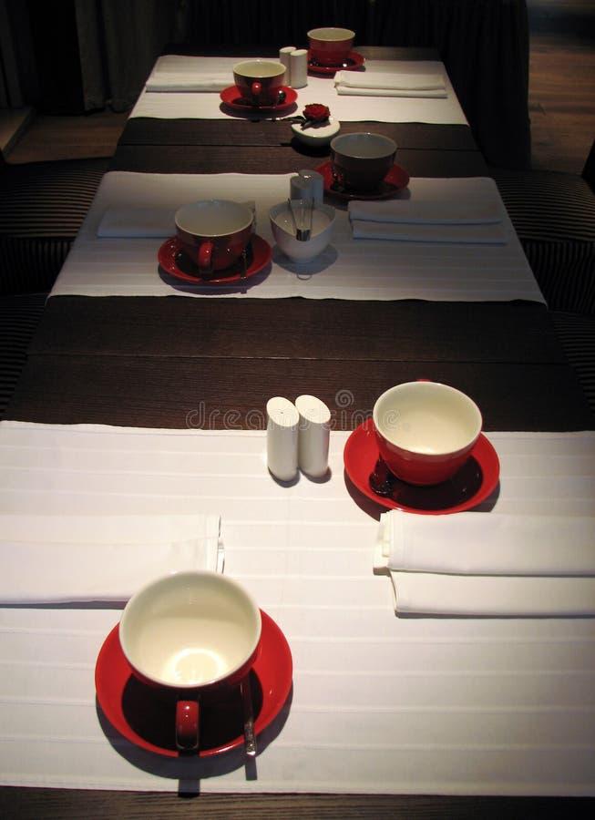 Restaurant Table Stock Photo