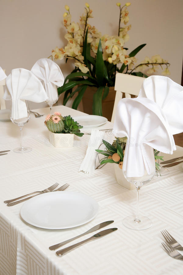 Download Restaurant table stock image. Image of ready, napkin - 34385759