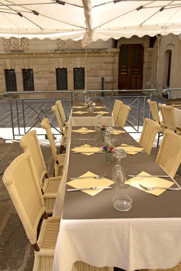Download Restaurant table in France stock photo. Image of expensive - 31693288