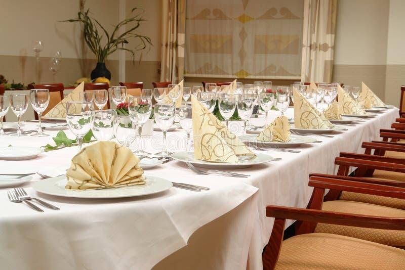 Restaurant table setting royalty free stock image