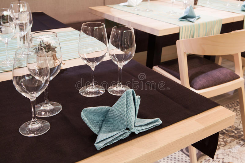 Restaurant table stock images