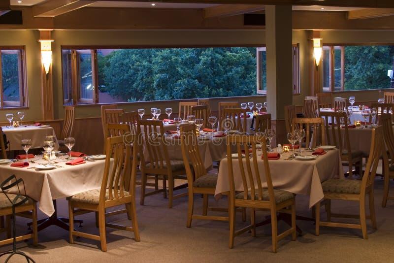 Restaurant tables stock image