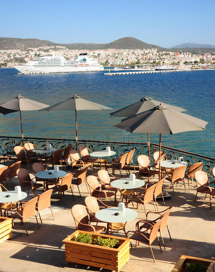 Download Restaurant Tables On A Terrace In Turkey Royalty Free Stock Photo - Image: 15857415