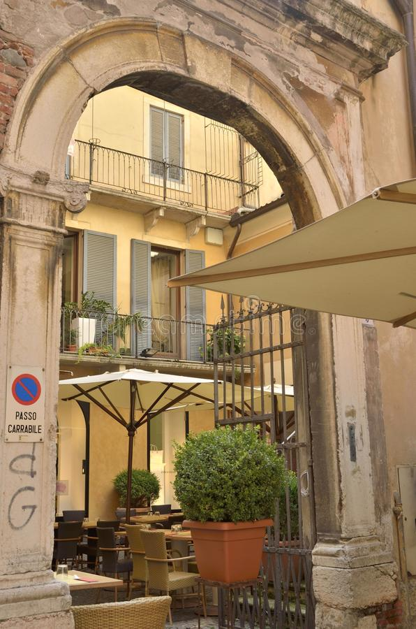 Restaurant in terras royalty-vrije stock foto