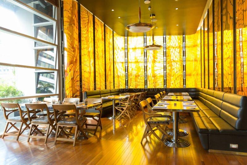 Restaurant In Thai Hotel stock photography