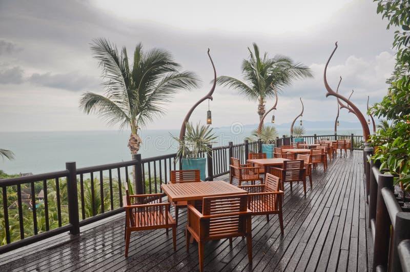 Restaurant in Thailand stock photo