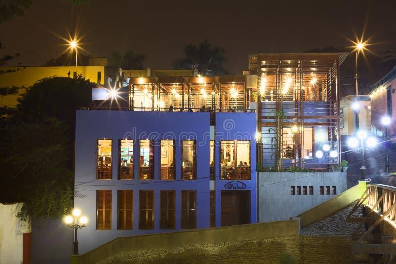 Restaurant Tio Mario dans Barranco, Lima, Pérou image libre de droits