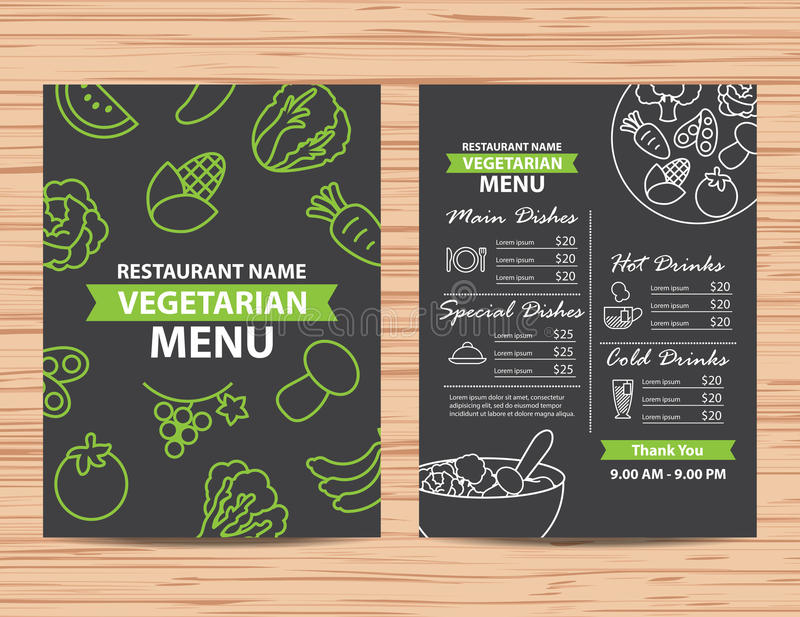 Healthy Vegan Restaurant Menu