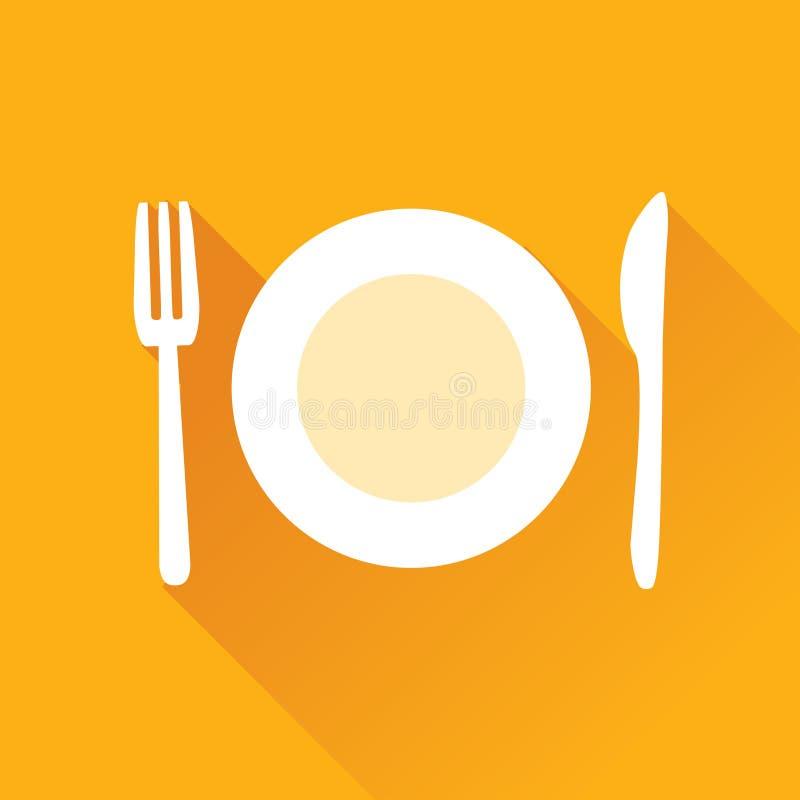 Restaurant Vlak Pictogram vector illustratie