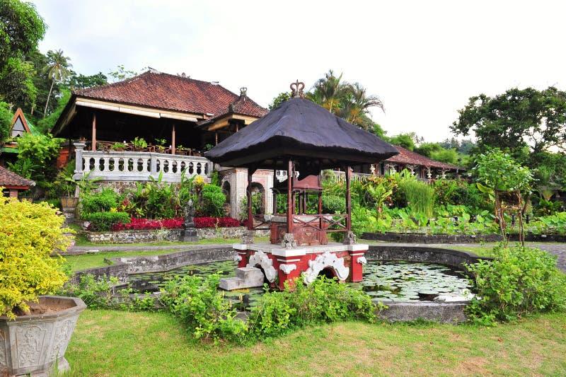Restaurant at Water Palace of Tirtaganga stock image