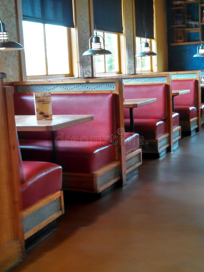 Free Restaurant With Red Booths Stock Photo - 47751410