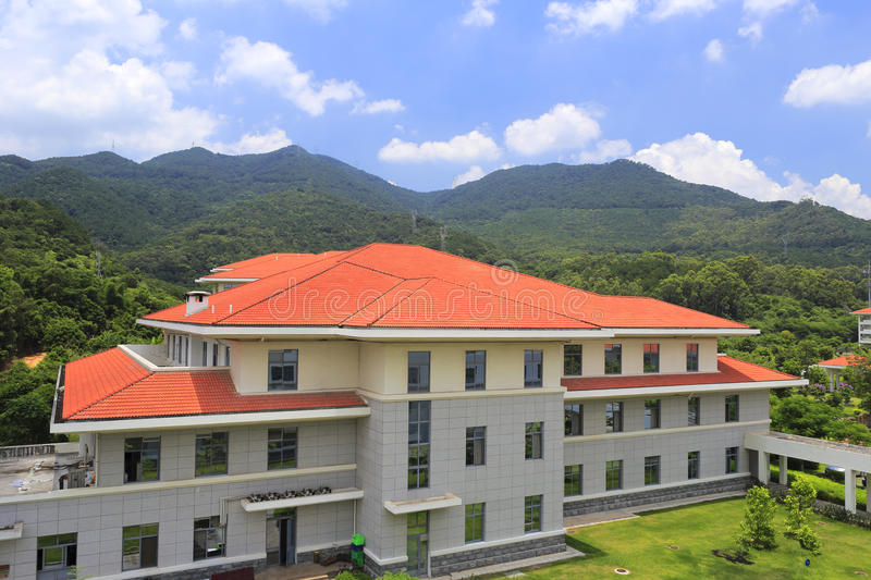 Restaurant of xiamen administration institute. Xiamen school of administration, perhaps is the most beautiful administration institute in the world royalty free stock photo