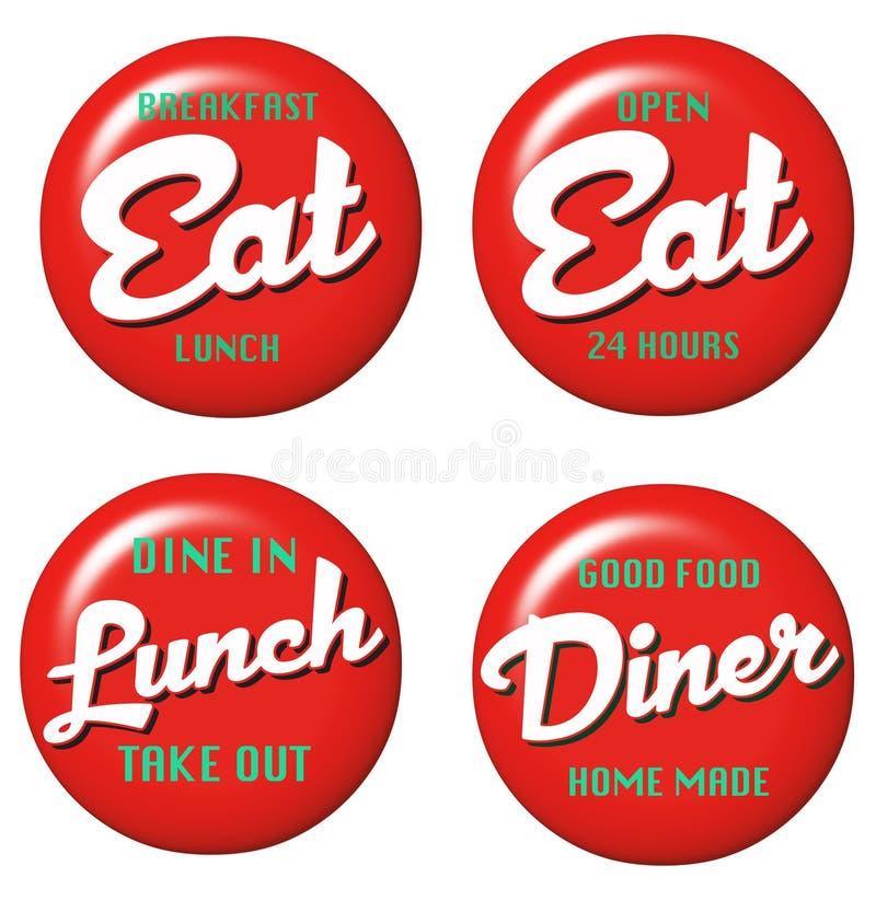 Restaurant-Zeichen lizenzfreie abbildung