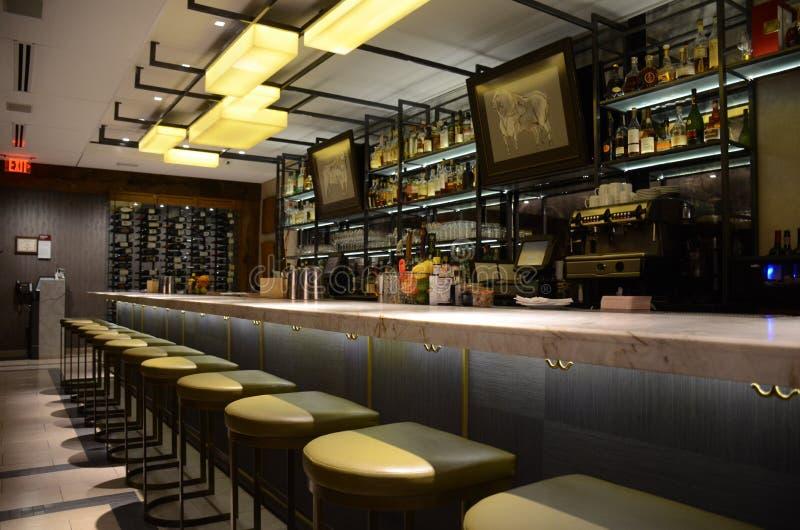 Restaurantbar royalty-vrije stock foto's