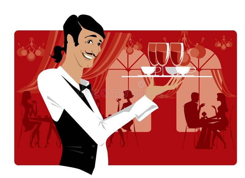 Restaurante ilustração do vetor