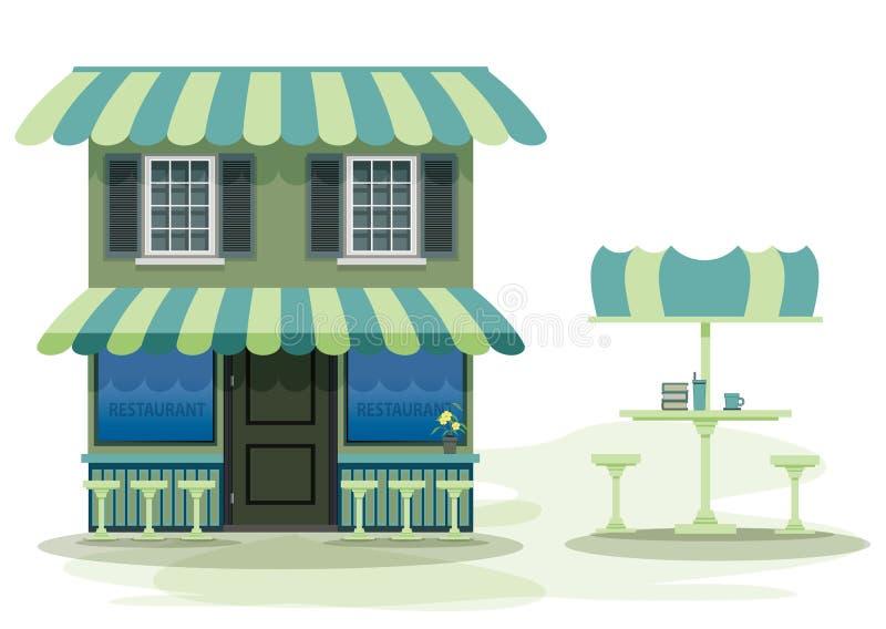 Restaurante ilustração stock
