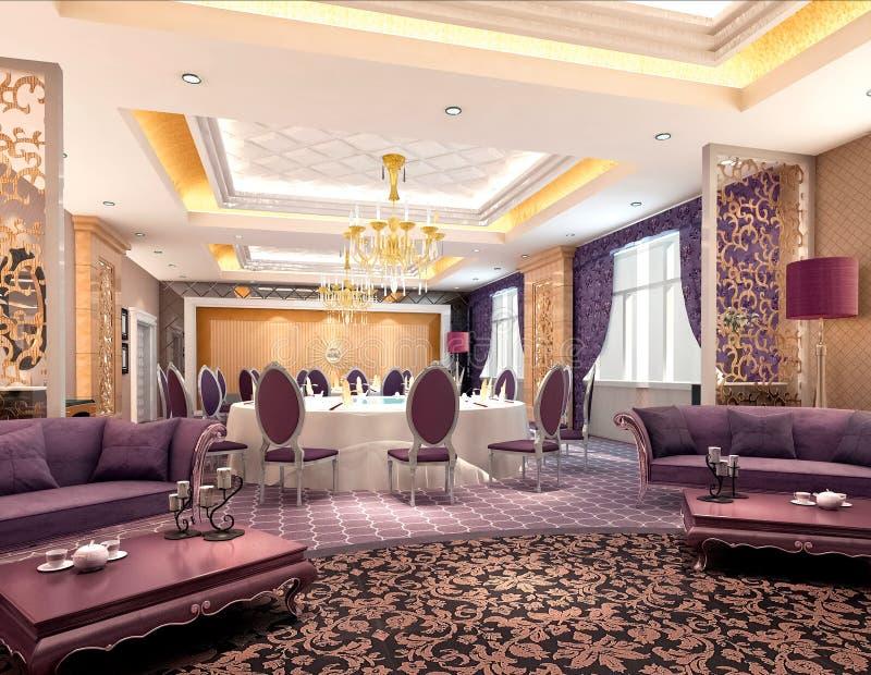 restaurante 3d moderno ilustração do vetor
