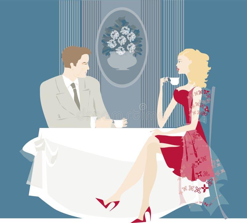 Restaurante stock de ilustración